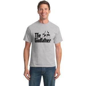 The Godfather Light Gray Black T-Shirt Gildan